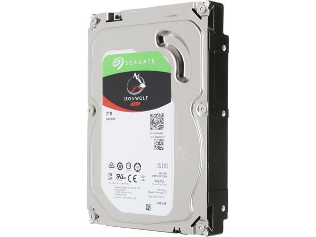 "Seagate IronWolf 2TB NAS Hard Drive 5900 RPM 64MB Cache SATA 6.0Gb/s 3.5"" Internal Hard Drive ST2000VN004 - OEM"