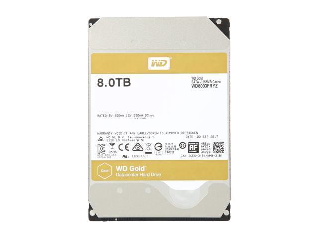 WD Gold 8TB Enterprise Class Hard Disk Drive - 7200 RPM Class SATA 6Gb/s 256MB Cache 3.5 Inch - WD8003FRYZ - OEM