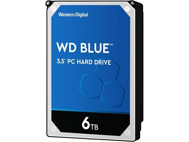 WD Blue 6TB Desktop Hard Disk Drive - 5400 RPM SATA 6Gb/s 64MB Cache 3.5 Inch - WD60EZRZ - OEM