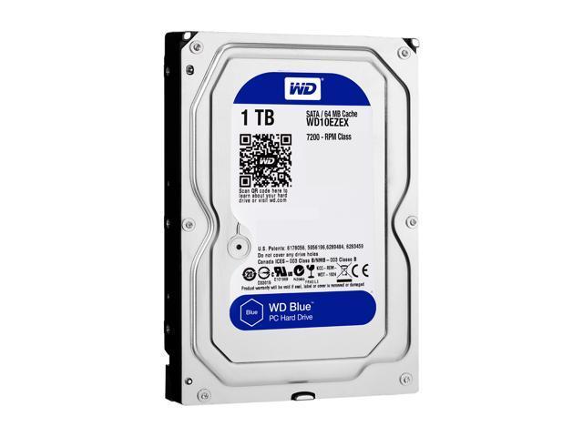 WD Blue 1TB Desktop Hard Disk Drive - 7200 RPM SATA 6Gb/s 64MB Cache 3.5 Inch - WD10EZEX - OEM