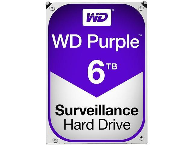 WD Purple 6TB Surveillance Hard Disk Drive - 5400 RPM Class SATA 6Gb/s 64MB Cache 3.5 Inch WD60PURX