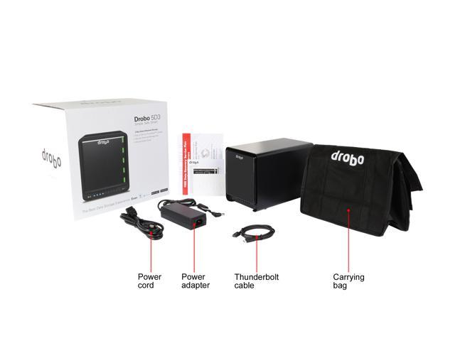 Drobo 5D3 5-Drive Direct Attached Storage (DAS) Array - Dual ThunderboltTM 3 and USB 3.0 Type-C ports (DRDR6A21)