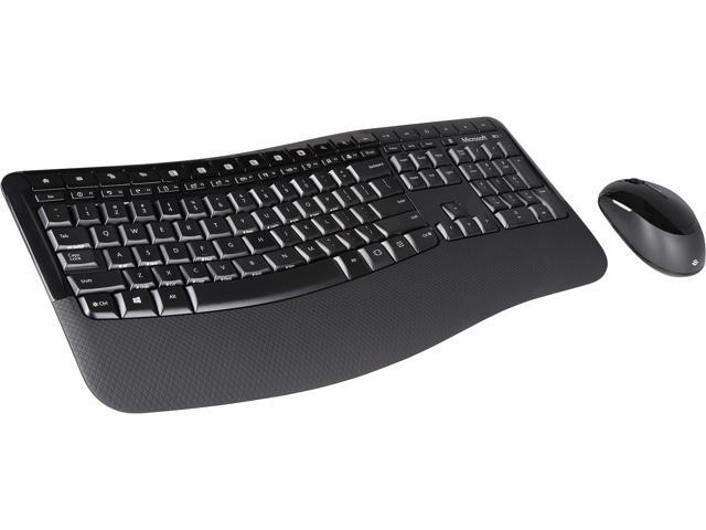 Microsoft Comfort Desktop 5050 PP4-00001 Black USB RF Wireless Ergonomic Keyboard & Mouse