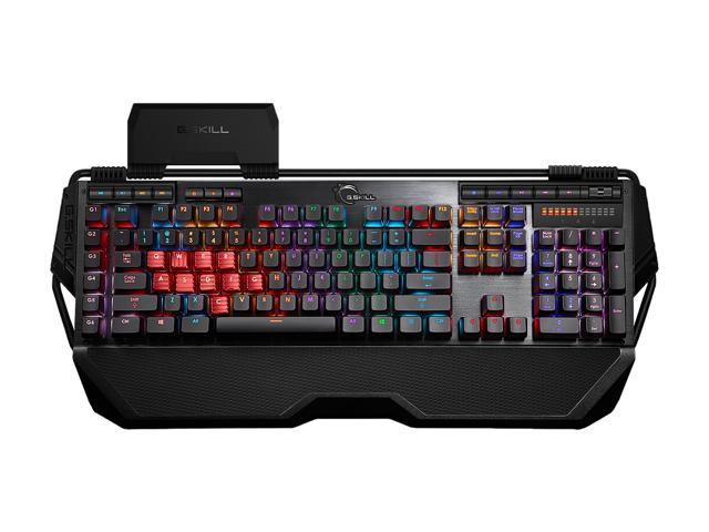 G.SKILL RIPJAWS KM780 RGB Mechanical Gaming Keyboard - Cherry MX Red with Gaming Keycaps
