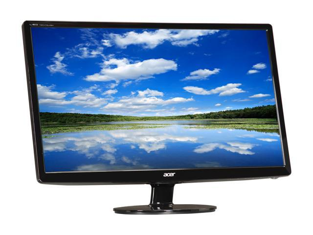 "Acer S241HLbmid Black 24"" 5ms HDMI Widescreen LED Backlight LCD Monitor"