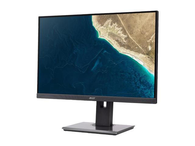"Acer Professional Series B247W 24"" Black IPS LED Monitor 1920 x 1200 Widescreen 16:10 4ms Response Time 300 cd/m2 1000:1 HDMI VGA DisplayPort USB Hub 3.0 Speakers"