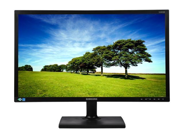 "Samsung SE200 Series S24E200BL Black 23.6"" TN Widescreen LED Monitor, 1920 x 1080 5ms 60Hz Refresh Rate, 16:9 Aspect Ratio, 170/160 Viewing Angle, D-sub/DVI"