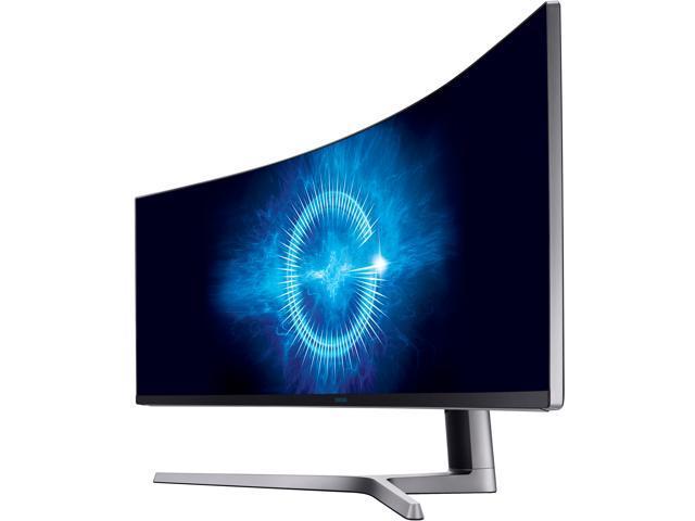 "Samsung C49HG90 49"" QLED Curved HDR AMD FreeSync 2 Gaming Monitor, 3840 x 1080 1ms, 32:9 Aspect Ratio, Quantum Dot, HDMIx2, DisplayPort, Mini DisplayPort, USB HUB Super Charger"