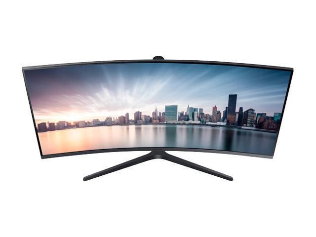 "Samsung 890 Series C34H890 Black 34"" Curved 3440x1440 WQHD sRGB 4ms 100Hz AMD Freesync Monitor, 300cd/m2, HDMI/DP/USB-C/USB Hub Fully Adjust Stand, VESA Compatible"