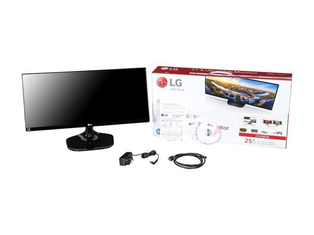 "LG 25UM56-P 25"" Class 21:9 UltraWide IPS Gaming Monitor 2560 x 1080 5ms GTG 60Hz 5,000,000:1 Contrast Ratio with Black Stabilizer and Dynamic Action Link, SRGB Over 99% and 4-Screen Split"