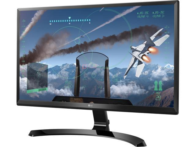 "LG 24UD58-B Black 23.8"" 5ms (GTG) HDMI Widescreen LED Backlight Ultra HD IPS 4K FreeSync Monitor Monitor 250 cd/m2 Mega"