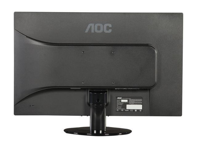 AOC E2425SWD 24-Inch Wide LCD Monitor (1920x1080 Optimum Resolution, 20M:1 DCR, DVI-D and VGA connectivity) Black