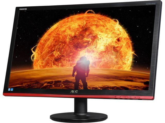 "AOC G2260VWQ6 22"" 1ms (GTG) 75 Hz Professsional Gaming Monitor, DCR 20,000,000:1, AMD FreeSync, VESA Mountable, Multimedia Connectivity, VGA, HDMI, Display Port"