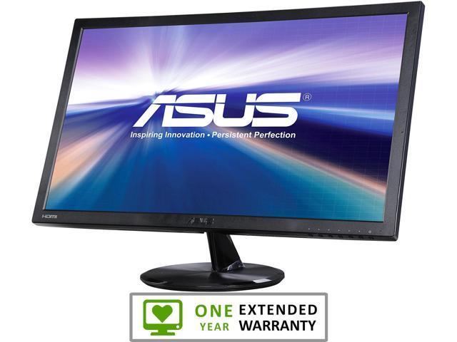 "Refurbished: ASUS VP247H-P-12 Black 23.6"" 1ms (GTG) HDMI Widescreen LED Backlight LCD Monitor 250 cd/m2 100,000,000:1"