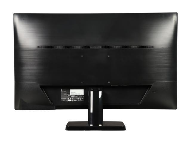 """HP 27sv Black 27"""" IPS 7ms (GTG) Frameless LCD/LED Monitor, 250 cd/m2 DCR 10,000,000:1 (1000:1), Built-in Speakers, VESA Mountable, HDMI DVI VGA"""