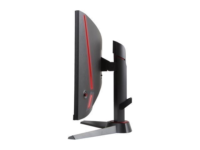 "MSI Optix MAG24C Metallic Dark Gray - Red 24"" Curved FHD 1080p 1ms (MPRT) 144Hz Widescreen LED Backlight LCD/LED Gaming Monitor 250 cd/m2 3000:1 DVI HDMI DisplayPort, Adjustable Stand"