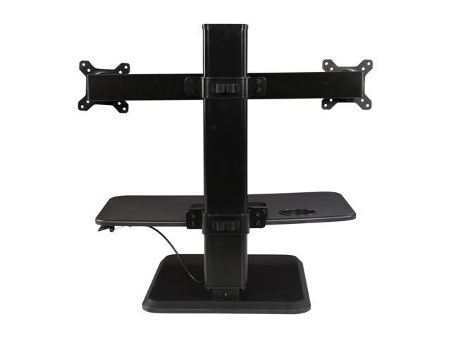 """Rosewill Dual Monitor Stand Height Adjustable Desk, Standing Desk Converter, Sit Stand Desk Riser for Screens up to 24"""""""