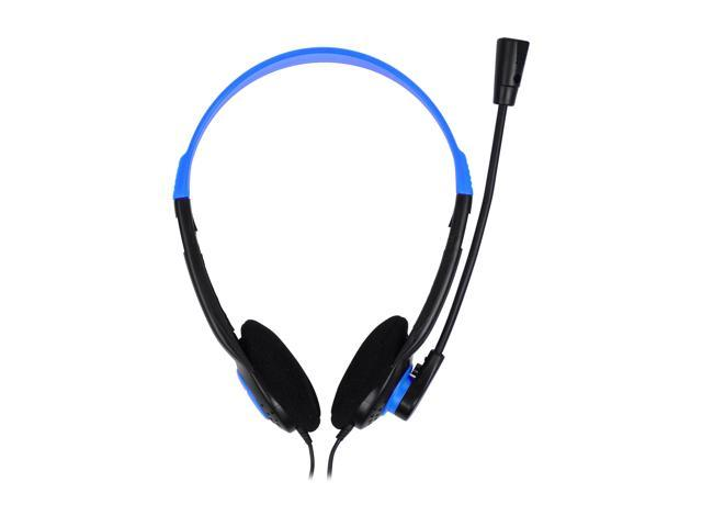Refurbished: Krazilla KZH800 USB Gaming Headset with Microphone and Volume Control / Mute - Blue (Grade A, new open box)