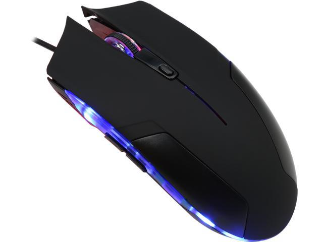 Orange MOUC093NB, 2400 DPI Ergonomic High Precision LED Gaming Mouse With Side-control Buttons PRO-AIM Gaming Sensor
