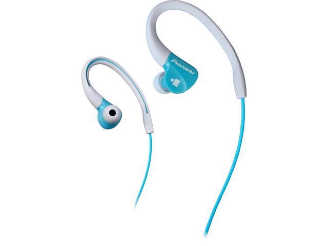Pioneer SE-E3M IRONMAN Sports Earphones - Aqua / White