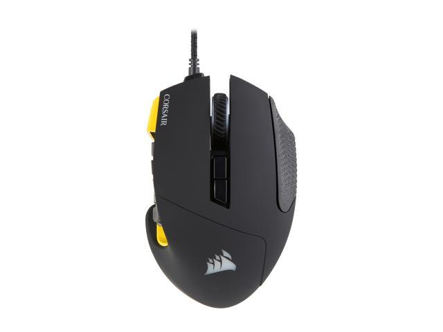 Refurbished: Corsair Gaming SCIMITAR RGB MOBA / MMO Gaming Mouse Worldwide version, Key Slider Mechanical Buttons, 12000 dpi, Yellow - OEM