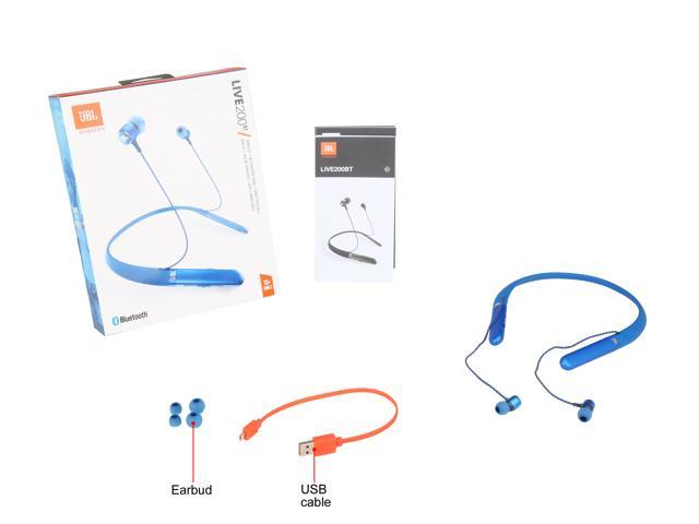 4ac3aa5c4a1 JBL Live 200 BT Wireless In-Ear Neckband Headphones with Three-Button  Remote and ...
