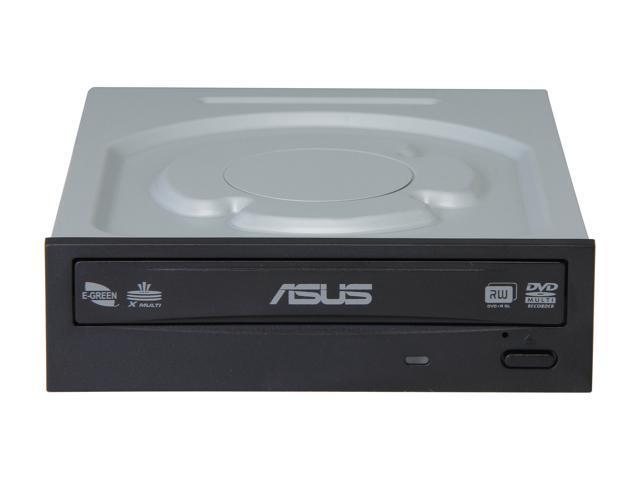 ASUS DVD Burner 24X DVD+R 8X DVD+RW 12X DVD+R DL 24X DVD-R 6X DVD-RW 16X DVD-ROM 48X CD-R 24X CD-RW 48X CD-ROM Black SATA Model DRW-24B3ST/BLK/G/AS