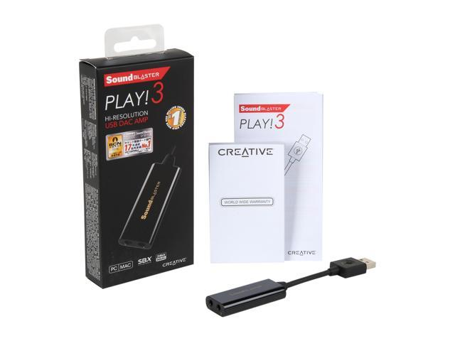 Creative Sound Blaster PLAY! 3 24-bit 48KHz USB Interface Sound Card