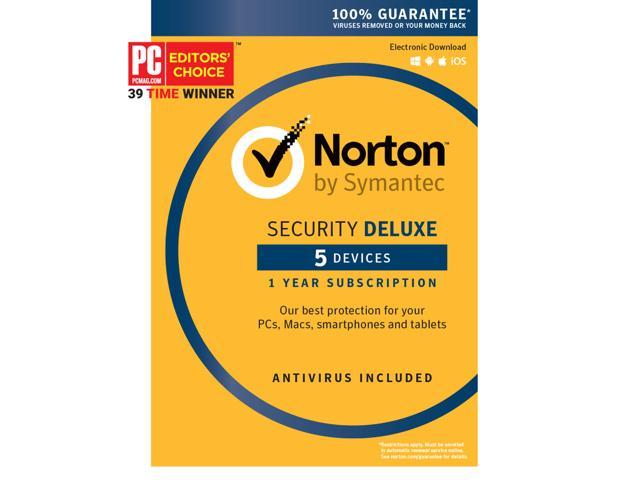 Symantec Norton Security with Antivirus Deluxe - 5 Devices [Key Card]