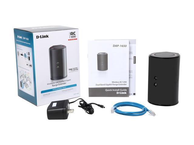 D-Link DAP-1650 Wireless AC1200 Dual Band Gigabit Range Extender