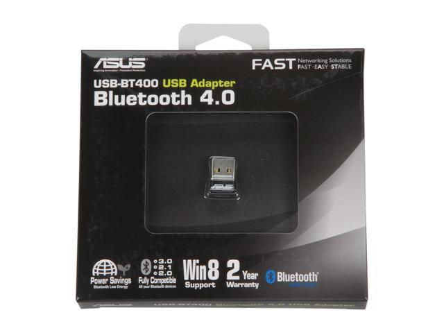 ASUS USB-BT400 USB Adapter w/ Bluetooth Dongle Receiver, Laptop & PC Support, Windows 10 Plug and Play /8/7/XP, Printers, Phones, Headsets, Speakers, Keyboards, Controllers