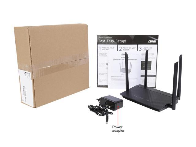 Refurbished: Asus Certified RT-AC1200 Dual-Band Wi-Fi Router with four 5 DBi Antennas and Parental Controls - OEM