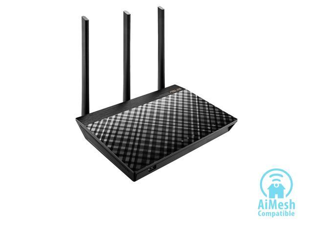 ASUS RT-AC66U B1 AC1750 Dual-band WiFi Router, MU-MIMO, AiProtection Lifetime Security by Trend Micro, AiMesh compatible for Mesh WiFi System