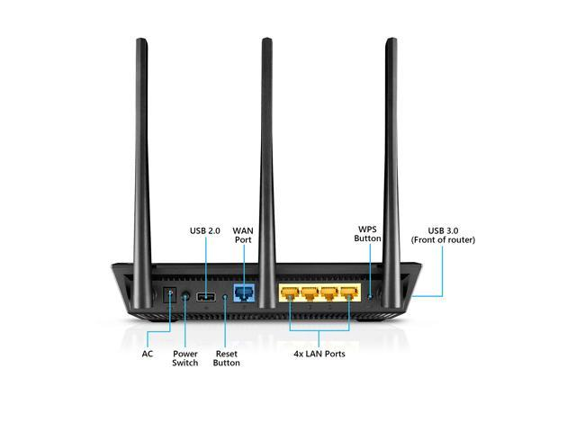 ASUS RT-AC1750 B1 AC1750 Dual Band Gigabit Wi-Fi Router with