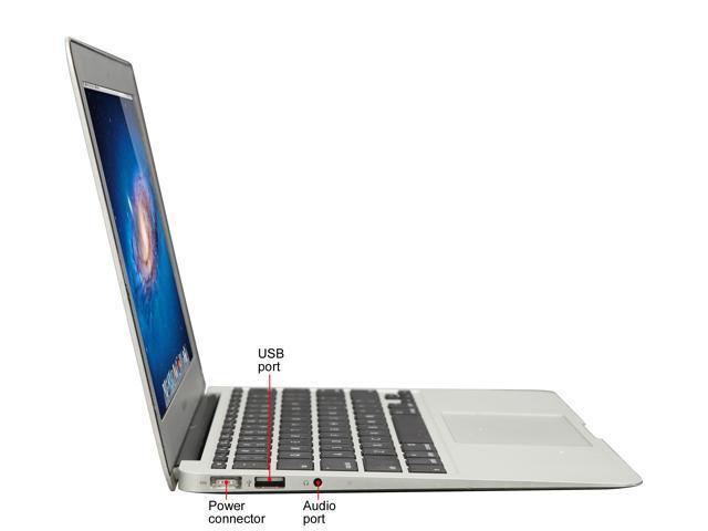 "Refurbished: Apple Grade B Laptop MacBook Air MC969LL/A B Intel Core i5 1.60 GHz 4 GB Memory 128 GB SSD Intel HD Graphics 3000 11.6"" Mac OS X v10.7 Lion"