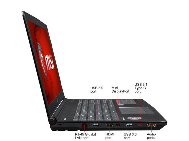 "Refurbished: MSI GE Series GE62VR Apache Pro-086 15.6"" Intel Core i7 6th Gen 6700HQ (2.60 GHz) NVIDIA GeForce GTX 1060 16 GB Memory 256 GB SSD 1 TB HDD Windows 10 Home 64-Bit Gaming Laptop"