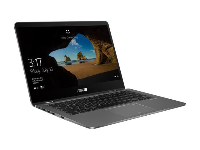 "ASUS ZenBook Flip UX461UA-DS51T Ultra-Slim Convertible 2-in1 Laptop 14"" FHD, 8th gen Intel Core i5 Processor, 8GB Memory, 256GB SSD, Windows 10 Home, Backlit keyboard, Fingerprint, Stylus Pen"