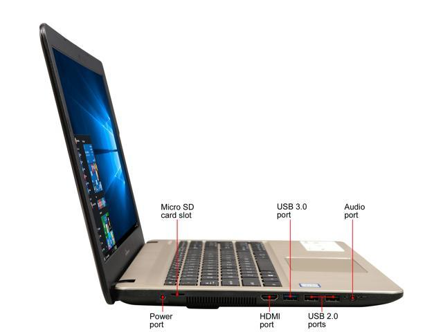 "ASUS Intel Core i3-8130U Processor, 4 GB DDR4 RAM, 1 TB FireCuda SSHD, 15.6"" FHD Display, Micro SD Card Reader Laptop X540UA-DB31"