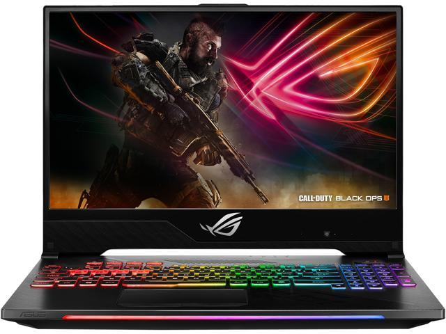 "ASUS GL504GM-DS74 ROG Strix Hero II Gaming Laptop, 15.6"" 144 Hz IPS-Type Slim Bezel Display, GeForce GTX 1060 6 GB, Intel Core i7-8750H (up to 3.9 GHz), 256 GB PCIe SSD + 1 TB HDD, 16 GB Memory"