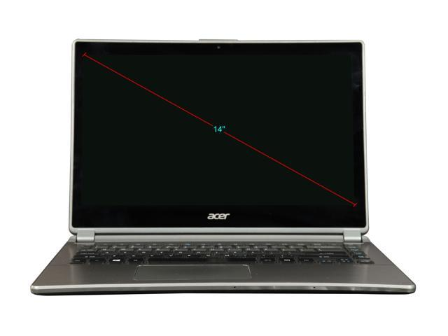 "Refurbished: Acer Grade C Laptop Intel Core i5 4th Gen 4200U (1.60 GHz) 4 GB Memory 128 GB SSD Intel HD Graphics 4400 14.0"" Touchscreen Windows 8"