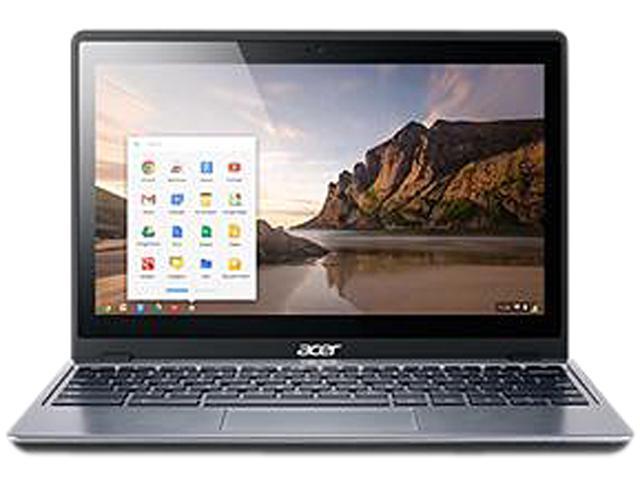 "Refurbished: Acer C720-2844 Grade B Chromebook Intel Celeron 2955U (1.40 GHz) 4 GB Memory 16 GB SSD 11.6"" Chrome OS"