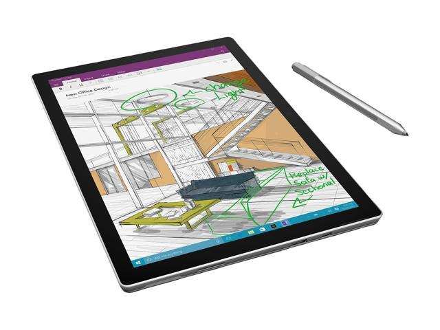 "Microsoft Surface Pro 4 CR5-00001 Intel Core i5 6th Gen 6300U (2.40 GHz) 4 GB Memory 128 GB SSD 12.3"" Touchscreen 2736 x 1824 Tablet Windows 10 Pro 64-Bit"