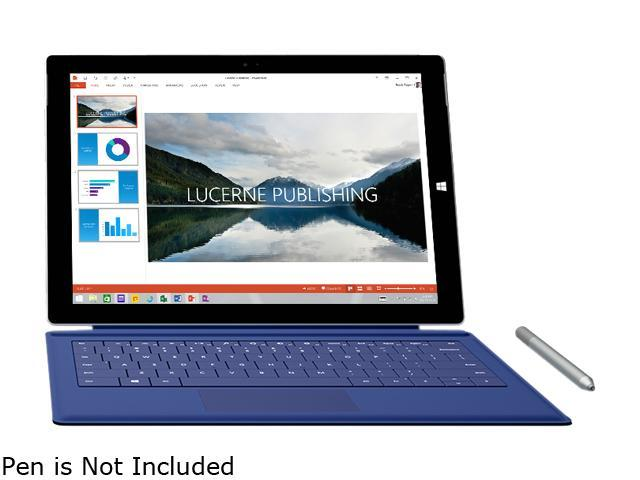 "Refurbished: Microsoft Surface Pro 3 5340965 Intel Core i5 4th Gen 4300U (1.90 GHz) 8 GB Memory 256 GB SSD Intel HD Graphics 4400 12"" Touchscreen 2160 x 1440 Detachable 2-in-1 Laptop Windows 10 Pro 64-Bit"