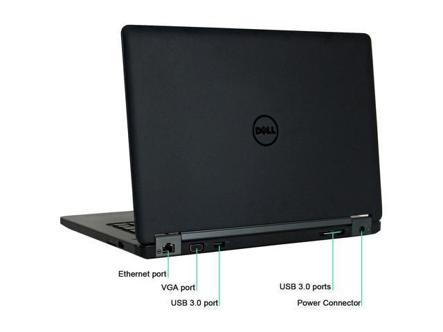 "Refurbished: DELL Grade A  Laptop E5450 Intel Core i5 5th Gen 5300U (2.30 GHz) 8 GB Memory 256 GB SSD 14.0"" Windows 10 Pro 64-Bit"