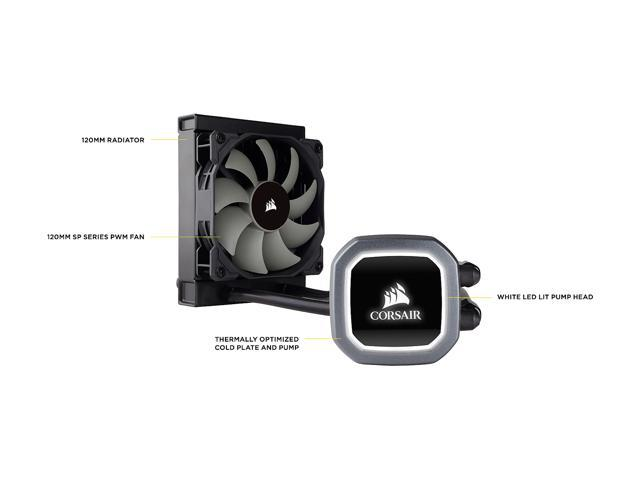 Corsair Hydro Series, H60 2018 (CW-9060036-WW), 120mm Radiator, Single 120mm PWM Fan, Liquid CPU Cooler