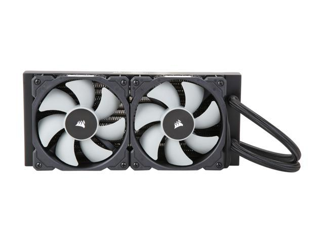 Corsair Hydro Series H100i PRO Low Noise 240mm RGB Water/Liquid CPU Cooler. 240mm (CW-9060033-WW). Support: Intel 2066, AMD AM4.