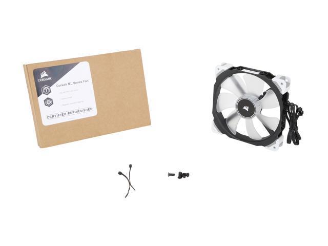 Refurbished: Corsair ML140 PRO LED CO-9050046-WW 140mm White LED 140mm Premium Magnetic Levitation PWM Fan - OEM