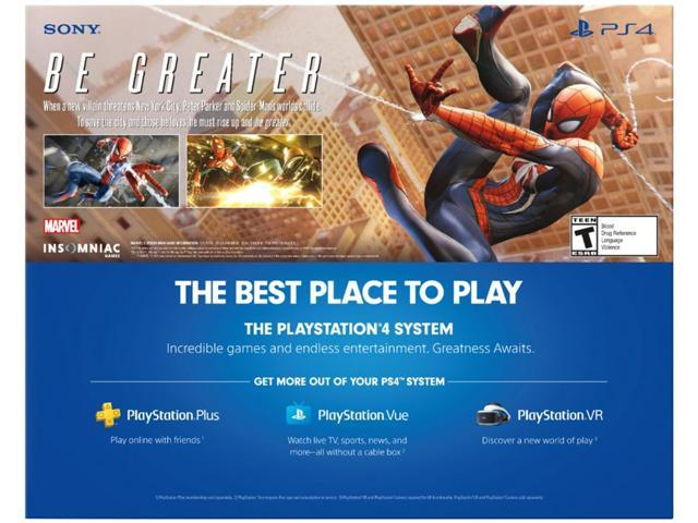 PlayStation 4 Slim 1TB Console - Marvel's Spider-Man Bundle