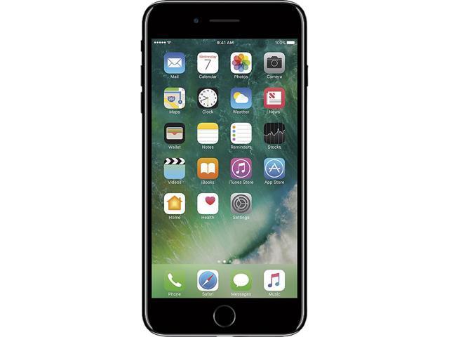 "Refurbished: Apple iPhone 7 Plus 4G LTE Unlocked GSM Quad-Core Smartphone w/ Dual 12 MP Camera 5.5"" Jet Black 128GB 3GB RAM"