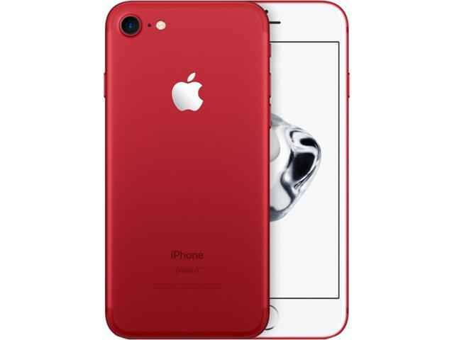 "Refurbished: Apple iPhone 7 4G LTE Unlocked GSM Quad-Core Phone w/ 12 MP Camera 4.7"" Red 128GB 2GB RAM"